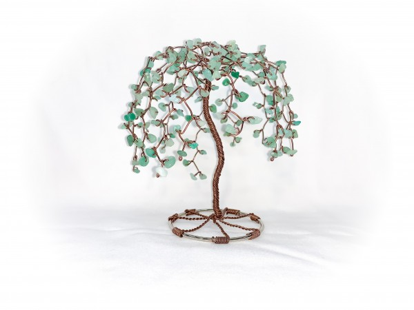 Avatrine and Brown Coated Aluminum Wire Tabletop Tree