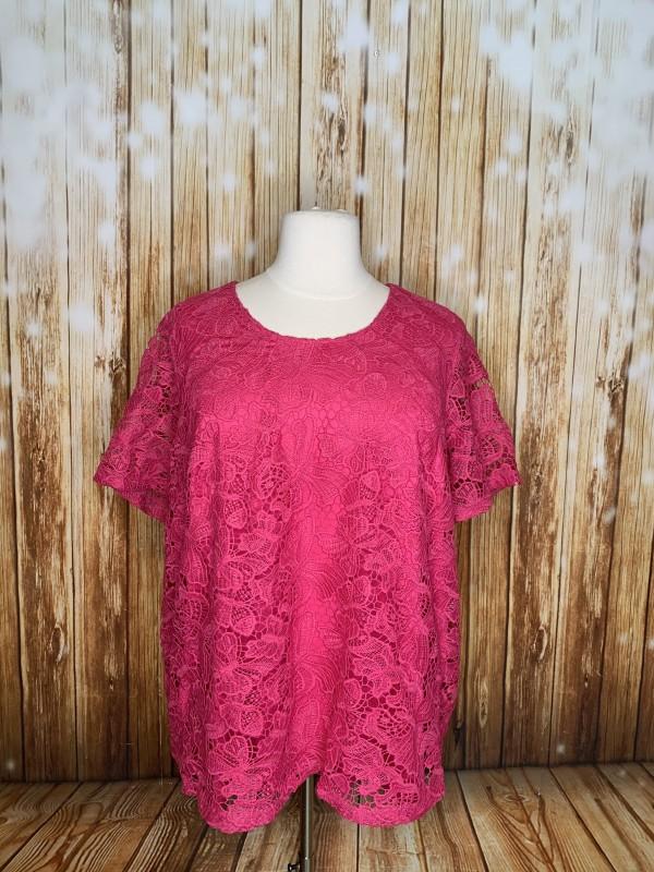 Catherine's 2x pink top
