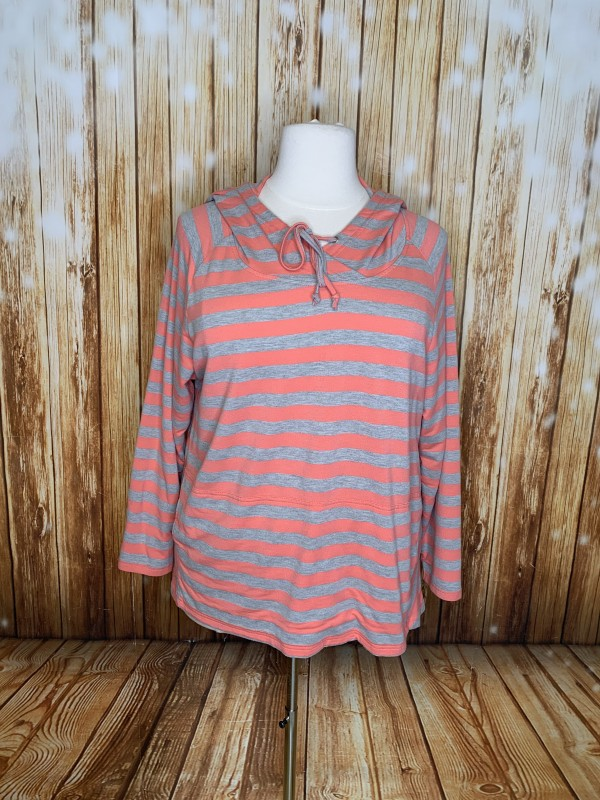 Indigo 2x striped hoody