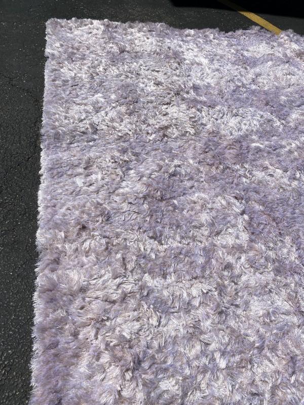 Purple/Gray Shag Rug