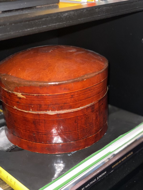 Asian Lacquered Lidded Bucket
