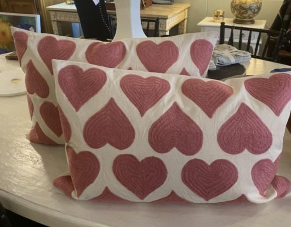 Heartbeat Pillow Deep Pink