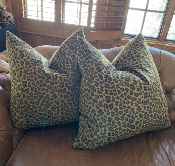 Pair of Cheetah Pillows