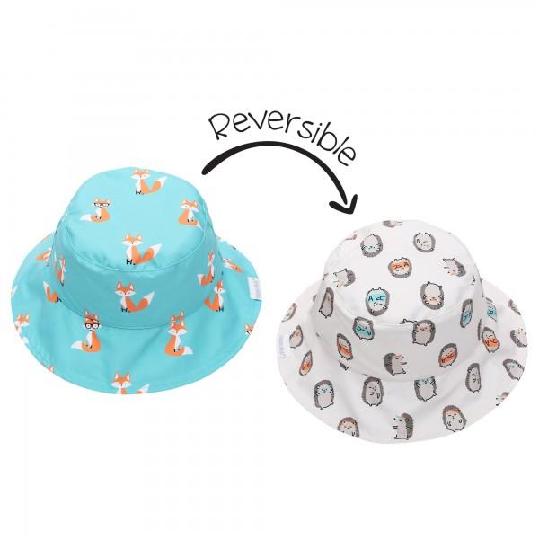 Fox/Hedgehog Sun Hat Reversible