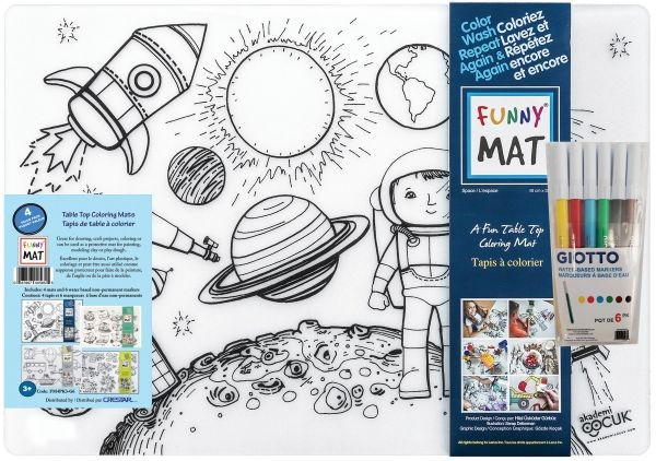 Set #2 Funny Mat Set of 4 with Markers