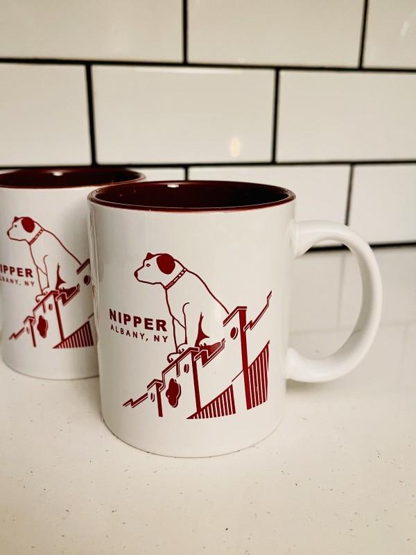 Nipper Maroon double-sided ceramic mug