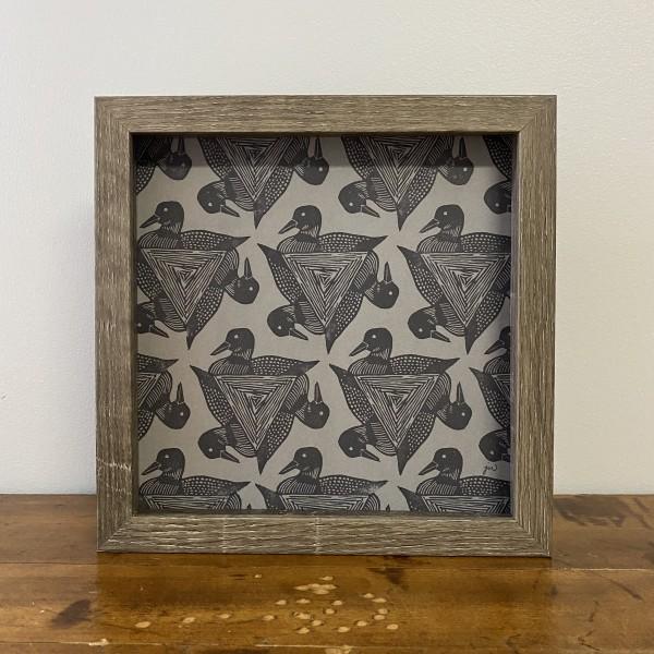 Loon 8x8 print - gray