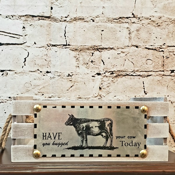 Have you Hugged Your Cow Crate
