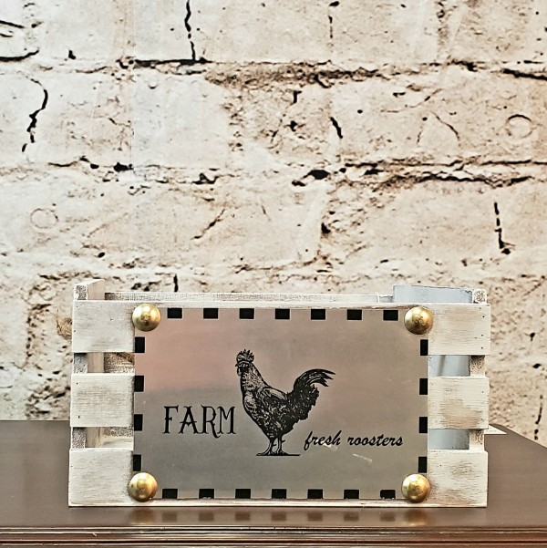 Farm Fresh Roosters Crate