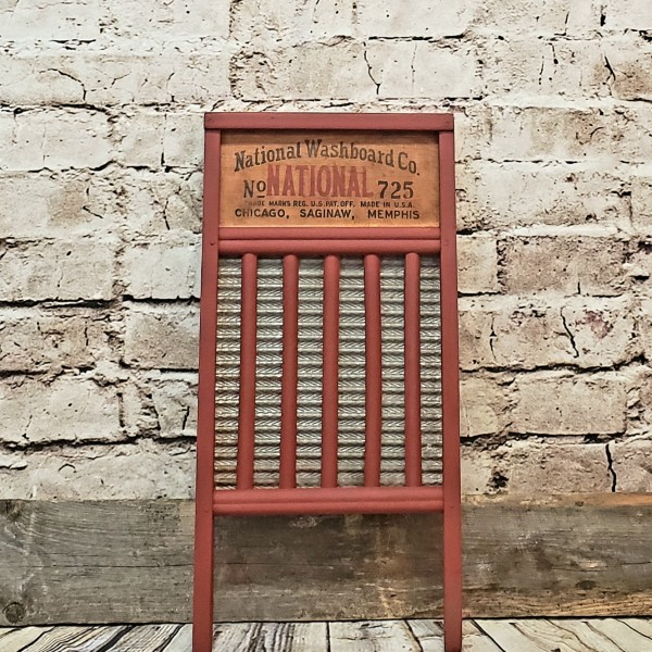 Red National Washboard Co no 725