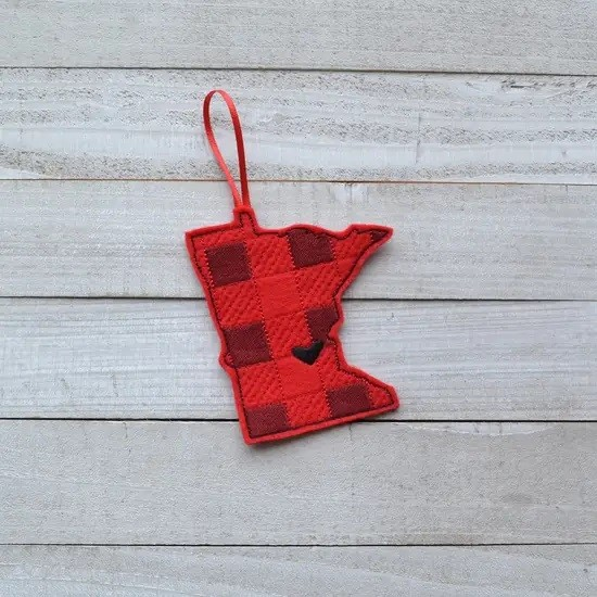 MN Buffalo Plaid Felt Ornament
