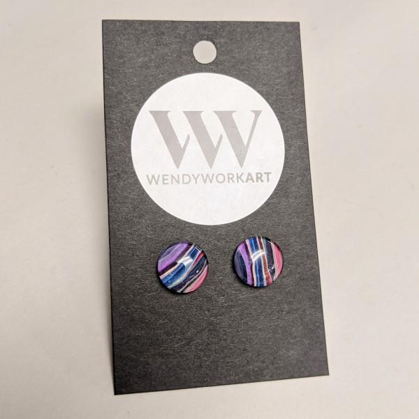 Earrings - Multicolored, Purple & Red