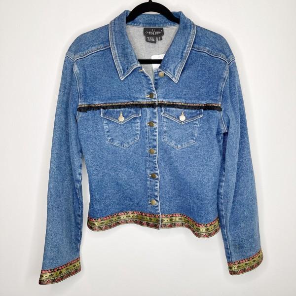 Carole Little Vintage 90s Trimmed Denim Jacket