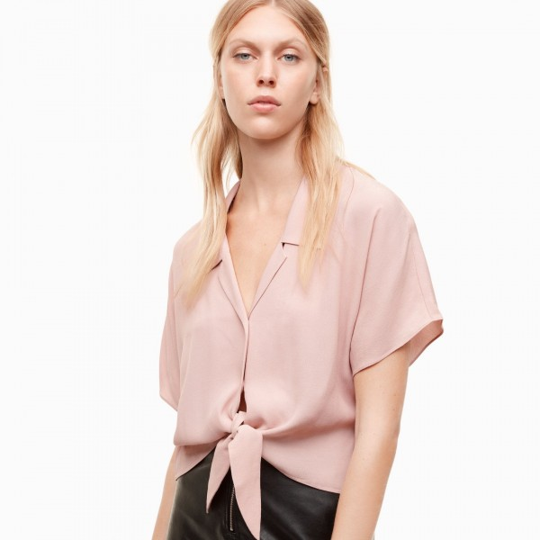 Wilfred Free 'Tie-Front' Cropped Blouse