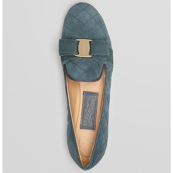 Salvatore Ferragamo 'Scotty' Quilted Suede Smoking Slipper