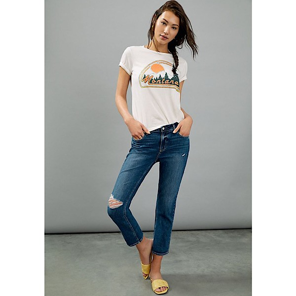 Paige 'Brigitte' Distressed Slim Leg Jeans