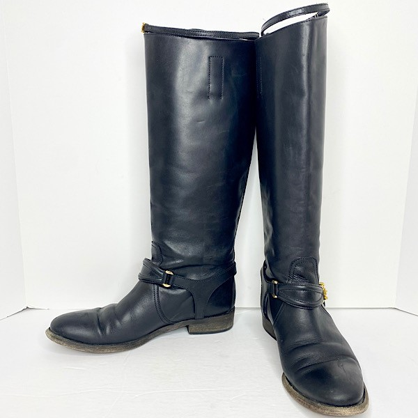 Burberry Equestrian Riding Knee-High Leather Boots - SZ 39.5