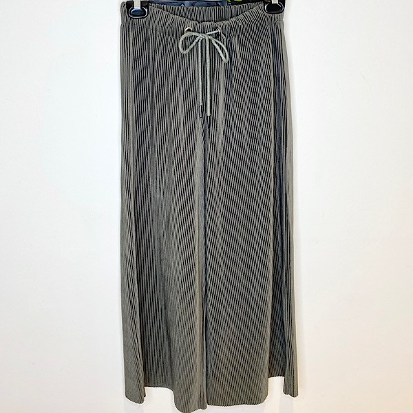 Molly Bracken Ribbed Wide-Leg Pull-On Pants