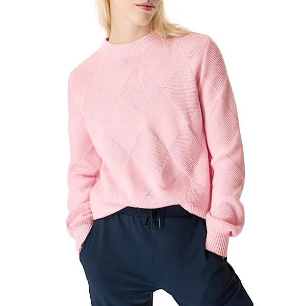 Sweaty Betty Diamond Knit Cotton-Wool Blend Sweater