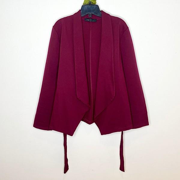 Lob Open Front Wrap Blazer Jacket
