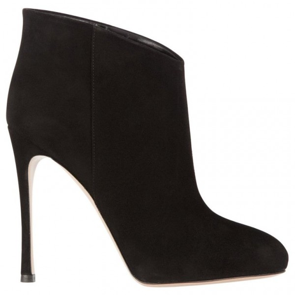 Gianvito Rossi Suede Stiletto Ankle Booties - SZ 39