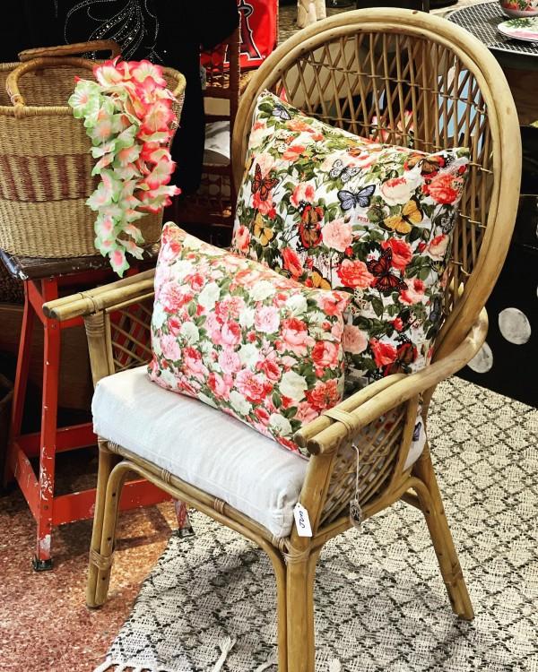 Vintage Wicker Armchair