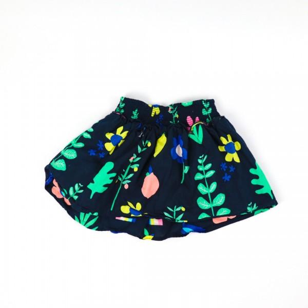 Navy Fruit Skirt - 4