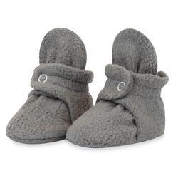 Zutano Booties-Gray Fleece