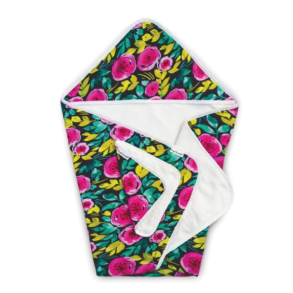 Tiny Twinkle Hooded Towel & Washcloth Set - Painted Peony
