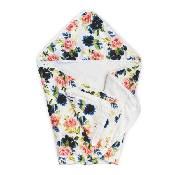Tiny Twinkle Hooded Towel & Washcloth - Blush