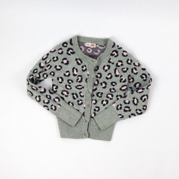 Leopard Gray Cardigan - 4/5