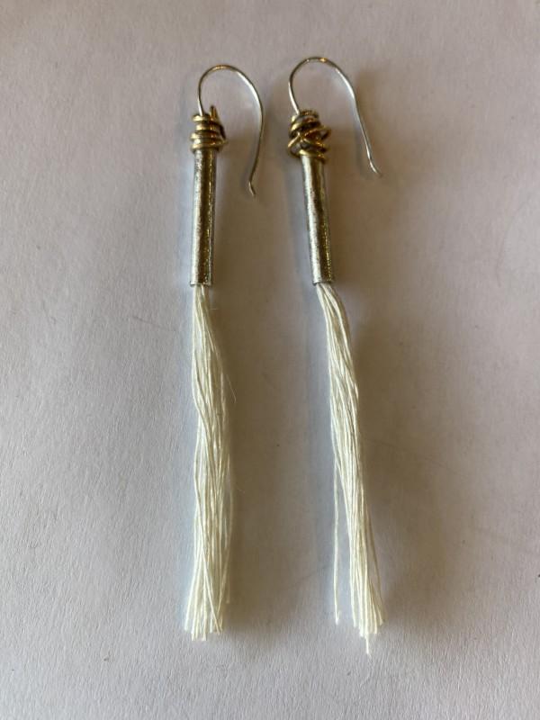 SS, Brass, Floss Earrings