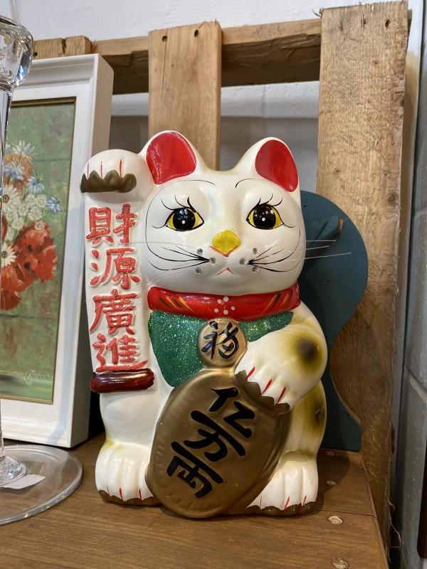 Vintage Ceramic Lucky Cat Bank