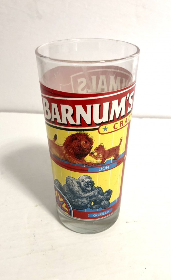 Barnum's animalcrackers. glass