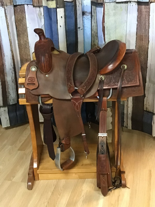 """17"""" McCall Versality Western Saddle with Breast Collar and Flank Cinch"""