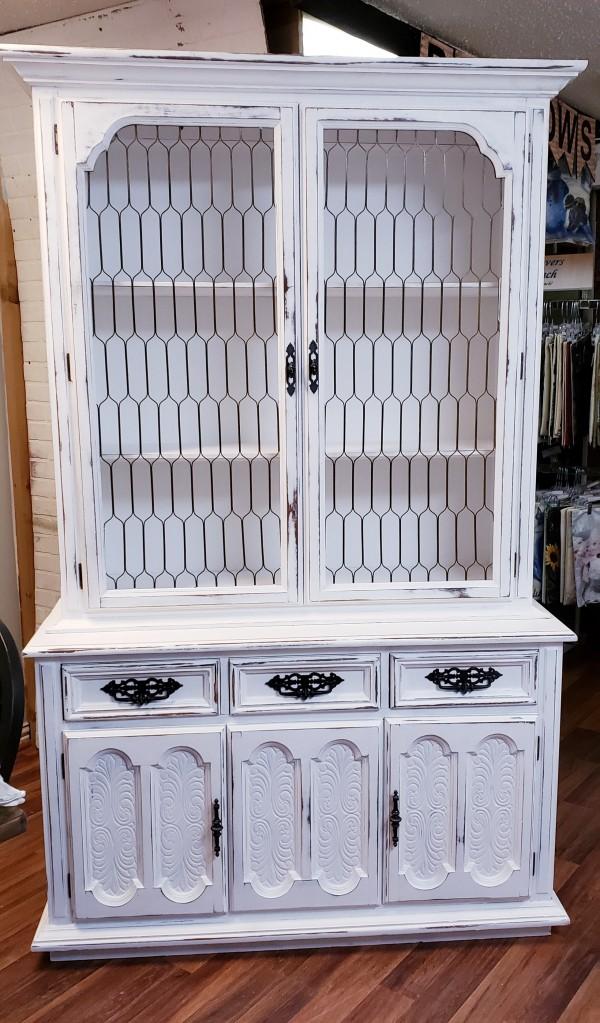 GLR-Antique Hutch- Pure White