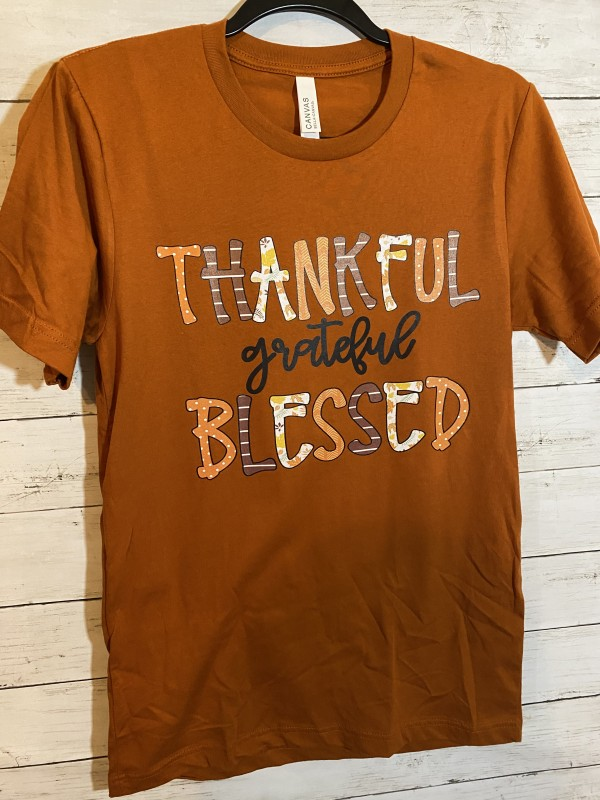 Thankful Blessed Tee Full Color