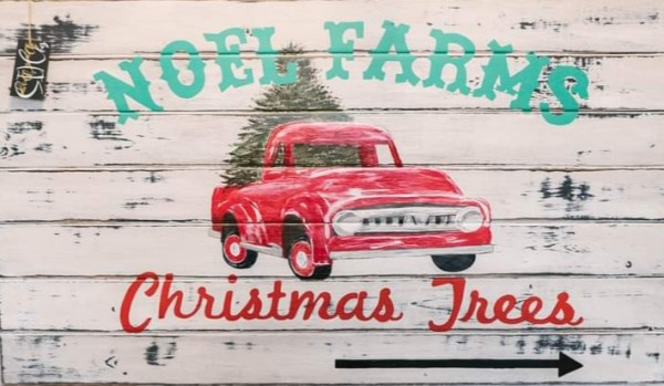 BHD -Rustic Christmas Truck Holiday Sign