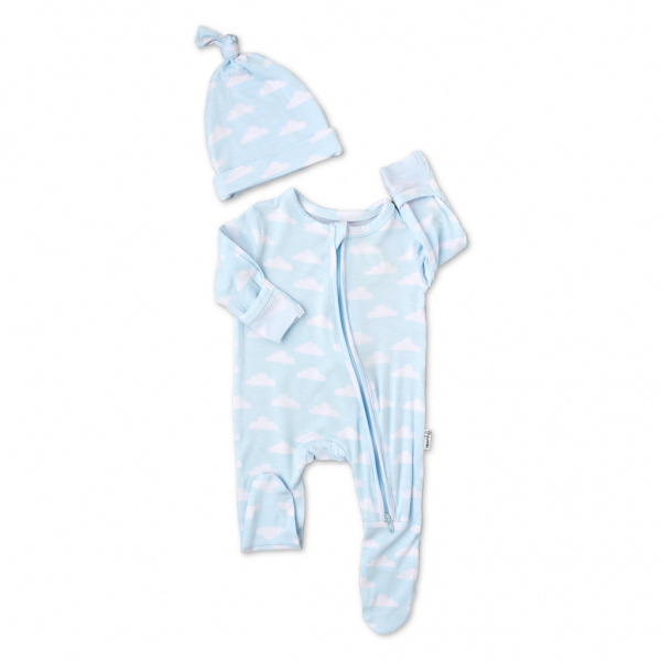 JAZ-Andy Clouds Zip w/Hat Newborn
