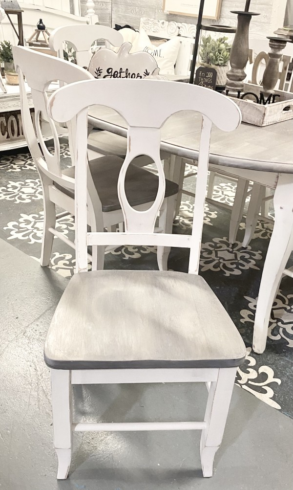 FVH-  Weathered Finish Chairs  Set of 6