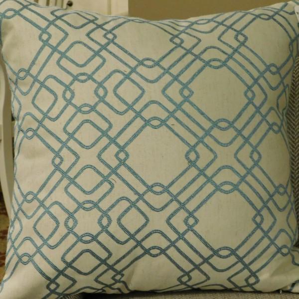Sagharbor Blue & Wheat Throw Pillow