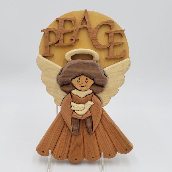 Wood Angel w/ PEACE