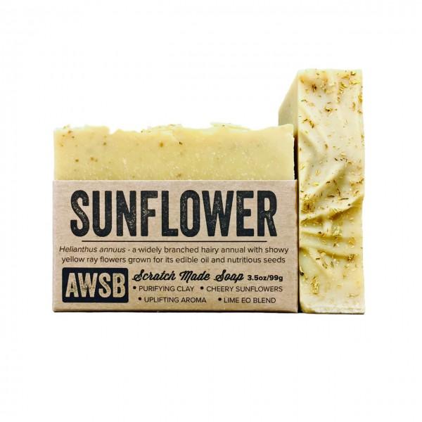 A wild soap bar organic handmade soap - sunflower