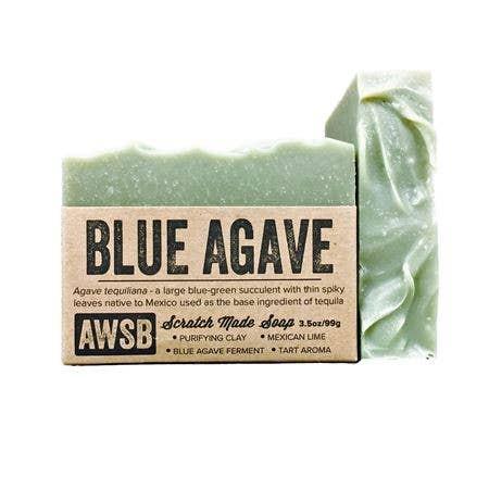 A wild soap bar organic handmade soap - blue agave