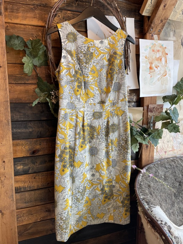 LIBERTY OF LONDON Yellow Floral Sleeveless Dress