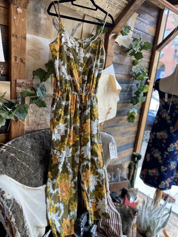 FAHERTY Green Yellow Floral Romper