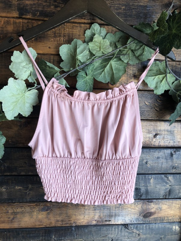 Urban outfitters pink satiny ruffle neckline tank top