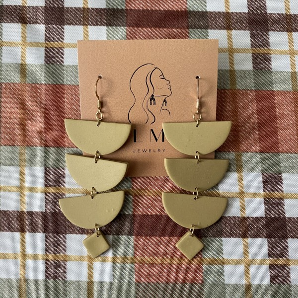 ALMA Earrings - Ivy Olive
