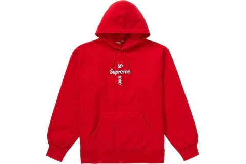 Supreme Cross Box Logo Hooded Sweatshirt Red