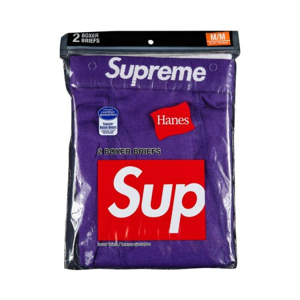 SUPREME HANES BOXER BRIEFS (2 PACK) PURPLE